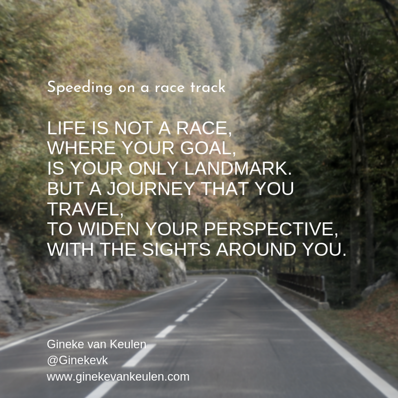 Speeding on a race track